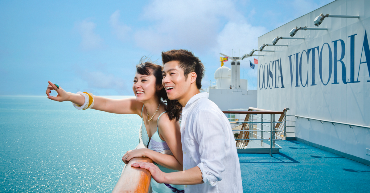 Costa Cruises Asia optimizes their website for mobile as part of their digital marketing approach to promote cruise trips in Asia.