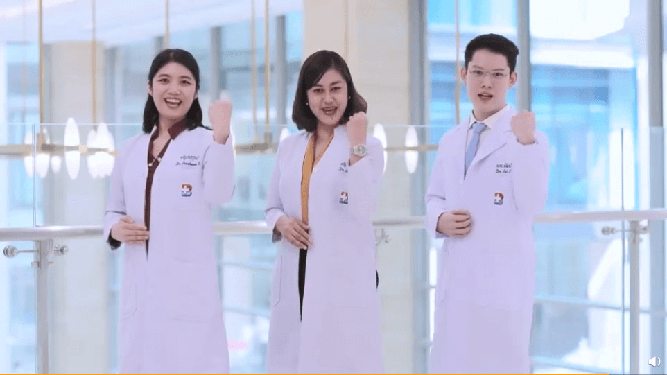 Medical practitioners joining the BDMS video campaign